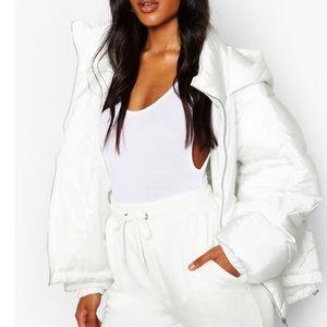 Boohoo Hooded Puffer Jacket